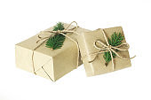 Christmas present or gift box isolated