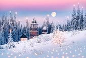 Carpathian mountains Christian monastery