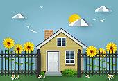house an fence