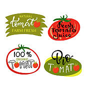 Hand sketched tomato lettering typography.