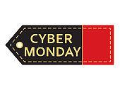 Cyber monday sale. Inscription design template.