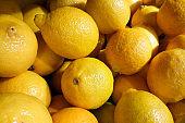 fresh Yellow Lemons background