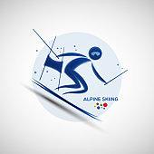 Alpine Skiing championship banner