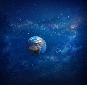Planet Earth in outer space