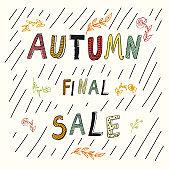 Autumn final sale hand drawn doodle poster