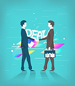 Business concept of deal and partnership.