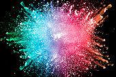 multicolored dust