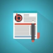 Blogging flat design