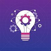 Idea solution bulb human man head brain concept