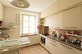 Interiors of modern apartment, kitchen
