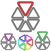 Triangle logo vector design set