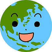 Facial expression of a eco round earth