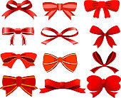 ribbon shaped like a butterfly set