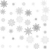 Gray Scale Crystal of snow pattern