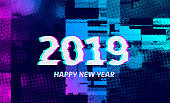 2019 distorted, glitch effect