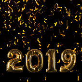 Happy New Year Greeting Card 2019