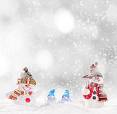 Christmas decoration with blurred background