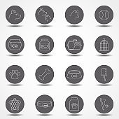 Simple Set of Pet Related Vector Line Icons. Contains such Icons as Dog, Cat, Bird, Spider, Animal Food and more.Simple pictograms. Simple pictograms.