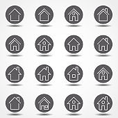 Simple collection of home related line icons. Thin line vector set of signs for infographic, logo, app development and website design. Premium symbols isolated. Buttons icons