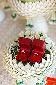 Diamond ring, wedding ring, Wedding Ring bride price. Wedding symbols. Wedding ceremony.