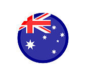 official colors and proportion correctly. National Australia flag. Flat vector illustration. EPS10.