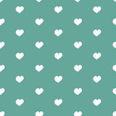 Seamless pattern for Valentine's Day. Cute hand drawn hearts on blue background