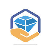 Vector illustration icon with the concept of a jewelry insurance policy
