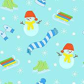 Vector winter seamless pattern