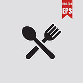 Lunch icon.Vector illustration.