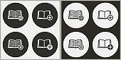 Add book - vector icon.