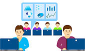 Concept for business analyst, marketing research and freelancer or employee.