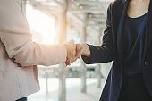 business shaking hand for complete business deal together successful. teamwork concept. partnership concept and dealership concept.