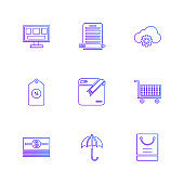dollar , ecg , search , bugs , technology , communication , eps icons set vector