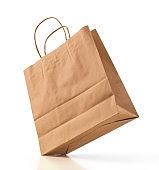 shopping bag kraft brown paper