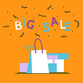 Bbig sale season poster.Online shopping,discount, commercial message concept