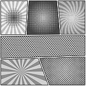 Comic book monochrome composition