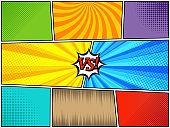 Set of comic book templates