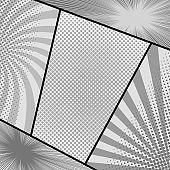 Comic page monochrome composition
