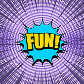 Comic page bright purple template