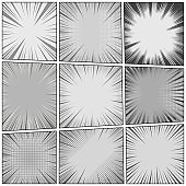 Comic monochrome backgrounds collection