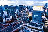 Night view of Asakusa