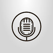 microphone icon in the round frame