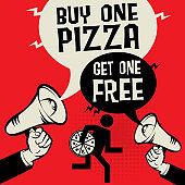 Buy One Pizza - Get One Free