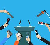 Hands holding microphones