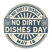 No Dirty Dishes Day stamp