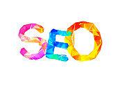 SEO (search engine optimization) vector abbreviation.