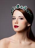 Beautiful princess with tiara