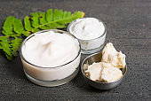 Raw shea butter and cosmetic cream