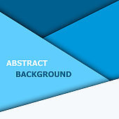 Blue overlap layer for text and background design