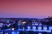 Charles bridge, Karluv most and Lesser town tower, Prague